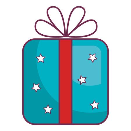 birthday party: giftbox present isolated icon vector illustration design Illustration