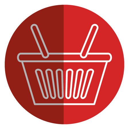 shopping basket isolated icon vector illustration design Stock Vector - 80836366