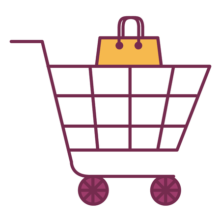 shopping cart isolated icon vector illustration design Stock Vector - 80841374