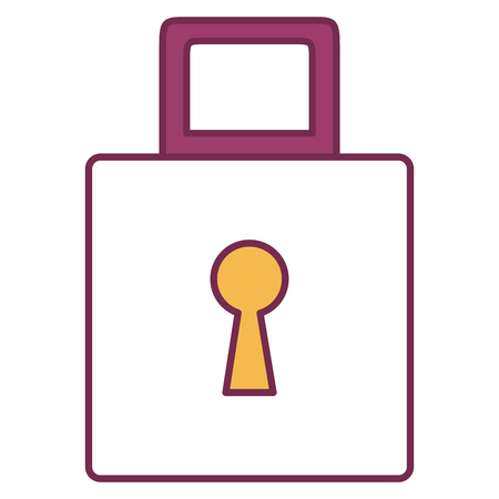 safe padlock isolated icon vector illustration design Stock Vector - 80841373
