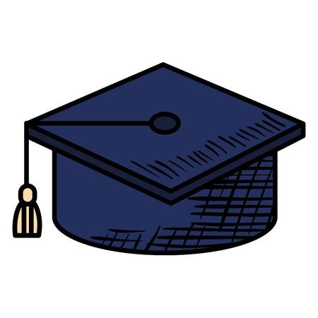 帽子卒業分離アイコン ベクトル イラスト デザイン グラフィック 写真素材 - 80839510