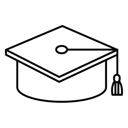 hat graduation isolated icon vector illustration design draw Ilustração