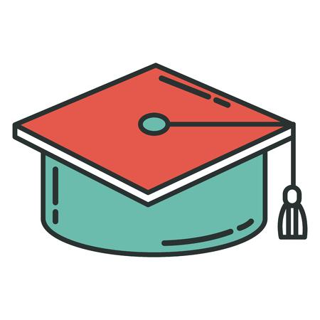 帽子卒業分離アイコン ベクトル イラスト デザイン グラフィック