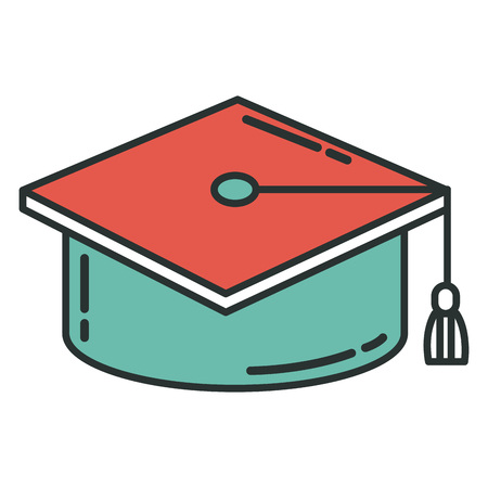 hat graduation isolated icon vector illustration design graphic