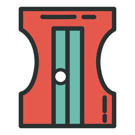 Bleistiftspitzerschulbedarfikonenvektor-Illustrationsdesign Standard-Bild - 80836992
