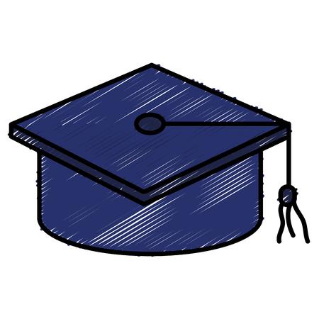 帽子卒業分離アイコン ベクトル イラスト デザイン落書き