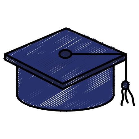 hat graduation isolated icon vector illustration design doodle