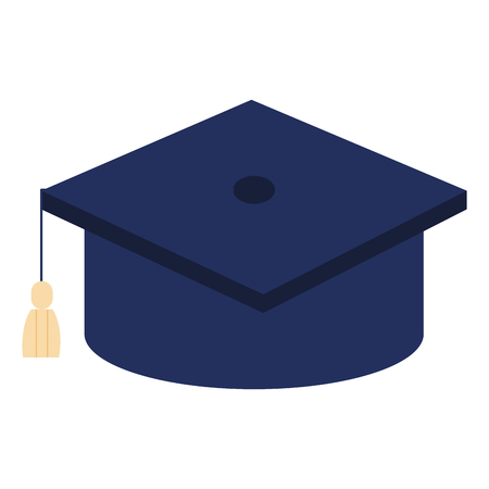 hat graduation isolated icon vector illustration design Banco de Imagens - 80837000