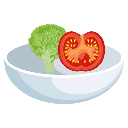 dish food vegetable icon vector illustration design graphic