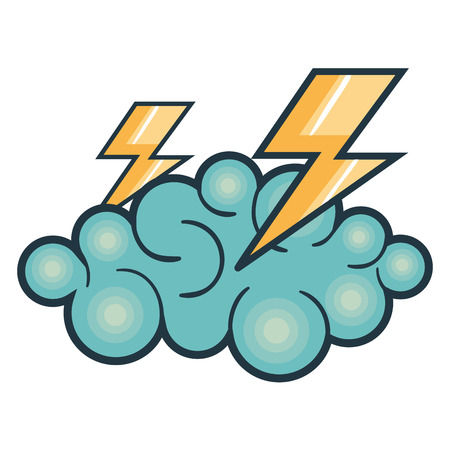 Dramatic: cloud thunder weather icon vector illustration design graphic