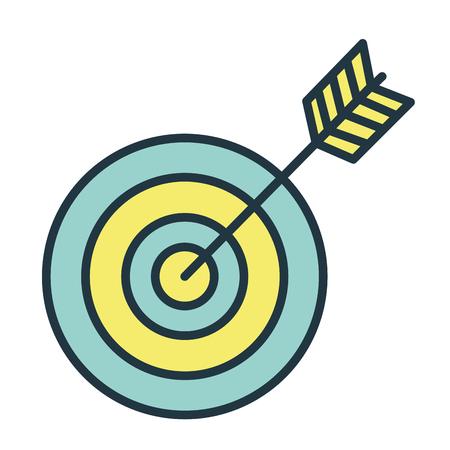 Doel met pijl pictogram vector illustratie ontwerp grafisch