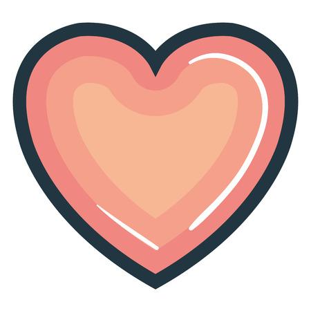 heart beatiful flat icon vector illustration design graphic Stock Vector - 80837421
