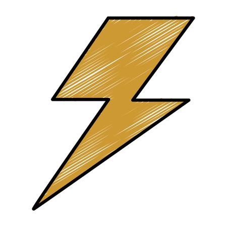 Thunder weather flat icon vector illustration design graphic