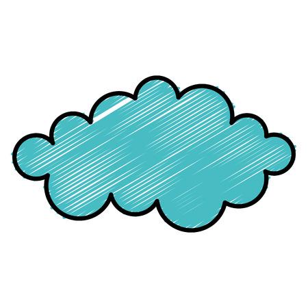 클라우드 날씨 평면 아이콘 벡터 일러스트 디자인 그래픽