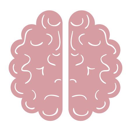 Brain halves flat icon vector illustration design graphic Çizim