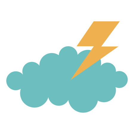 cloud thunder weather icon vector illustration design graphic Stock fotó - 80837389