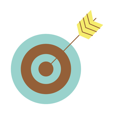 Target with arrow icon vector illustration design graphic Illustration