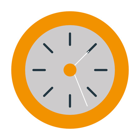Wall clock object icon vector illustration design graphic