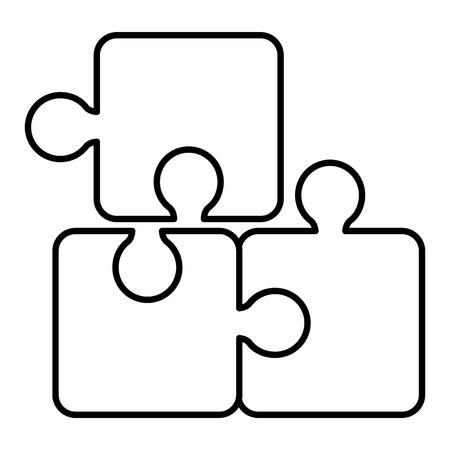Puzzle tokens flat icon vector illiustration design graphic