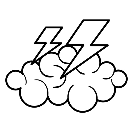 overcast: cloud thunder weather icon vector illustration design graphic