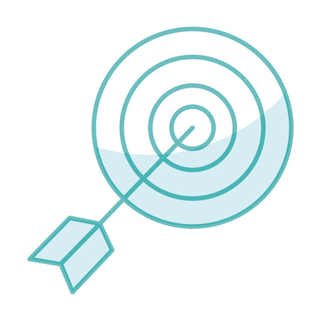 Target with arrow icon vector illustration design image