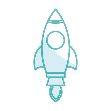 Spacecraft base flat icon vector illustration design image Vettoriali