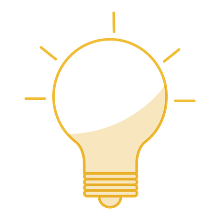 equipping: Bulb iluminate instrument icon vector illustration design image