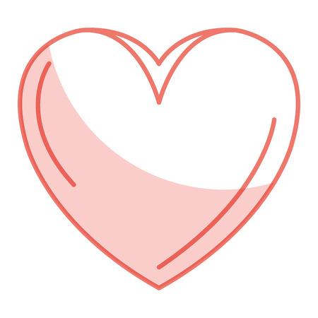 heart beatiful flat icon vector illustration design image