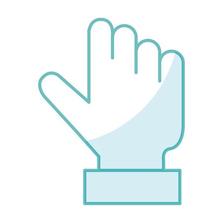 Aanraking punt hand pictogram vector illustratie ontwerp afbeelding Stock Illustratie