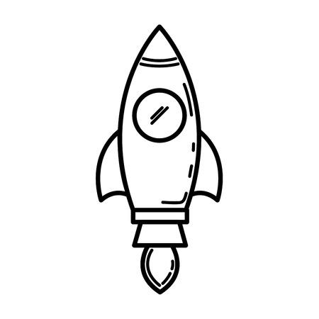 spacecraft base flat icon vector illustration design graphic