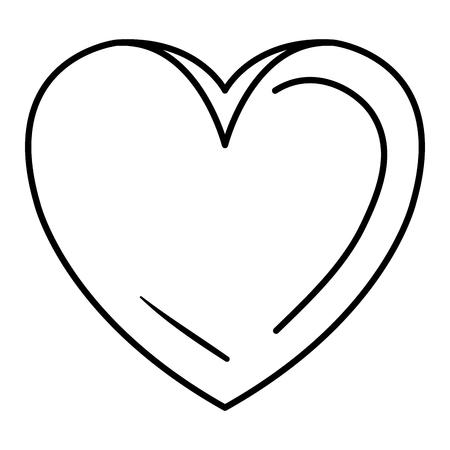 heart beatiful flat icon vector illustration design graphic Illustration