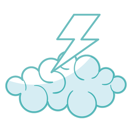 cloud thunder weather icon vector illustration design graphic