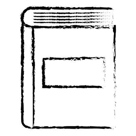 book close read icon vector illustration design doodle