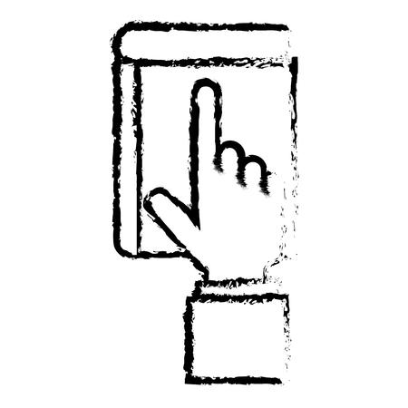 aanraakpunt hand pictogram vector illustratie ontwerp doodle Stock Illustratie