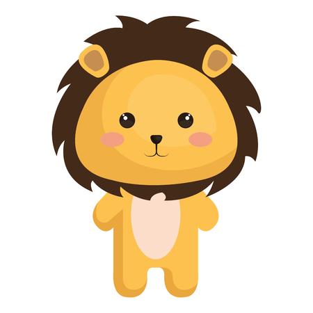 Gevulde dieren leeuw icoon vector illustratie ontwerp grafisch