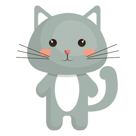 박제 동물 고양이 아이콘 벡터 일러스트 디자인 그래픽