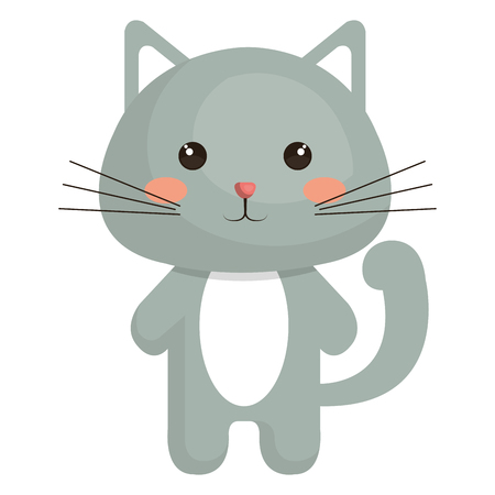 Stuffed animal cat icon vector illustration design graphic