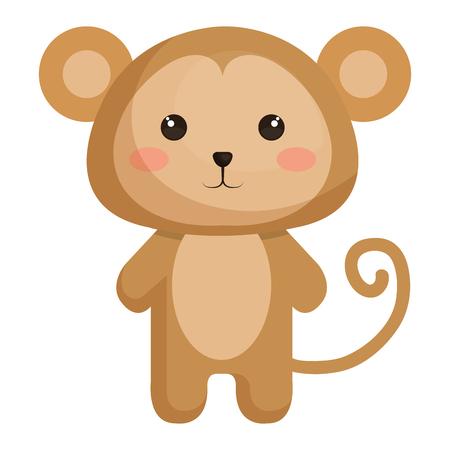 Stuffed animal monkey icon vector illsutration design graphic Illusztráció
