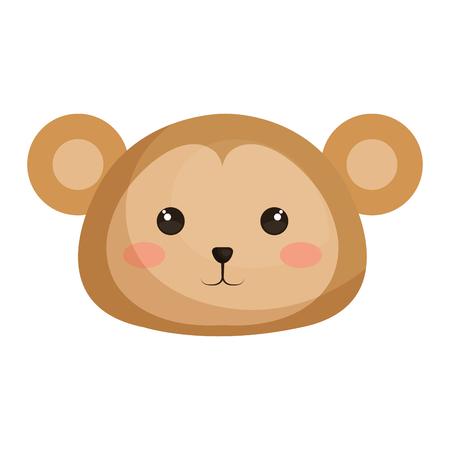 Stuffed animal monkey icon vector illsutration design graphic Illustration