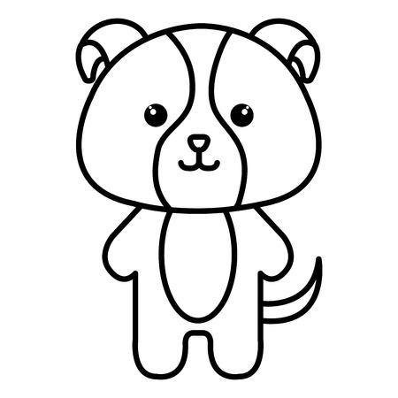 박제 동물 강아지 아이콘 벡터 일러스트 디자인 이미지