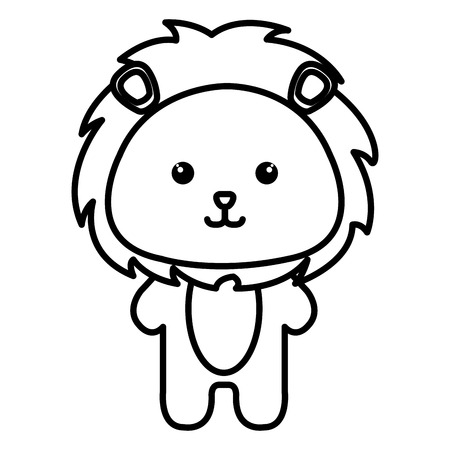 Stuffed animal lion icon vector illustration design image