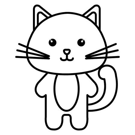 박제 동물 고양이 아이콘 벡터 일러스트 디자인 이미지