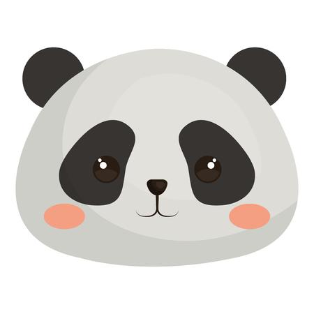 Stuffed animal panda icon vector illustration design graphic Illustration