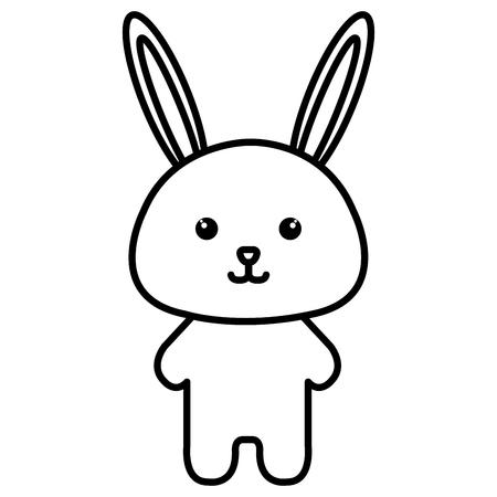 Stuffed animal rabbit icon vector illustration design image