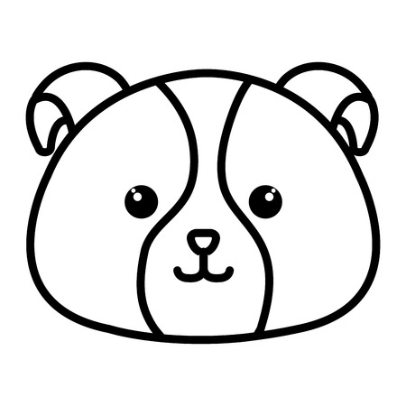 Gefüllte Tier Hund Symbol Vektor-Illustration Design-Bild Standard-Bild - 80859588