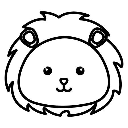 박제 동물 사자 아이콘 벡터 일러스트 디자인 이미지