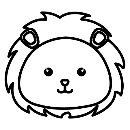 Stuffed animal lion icon vector illustration design image