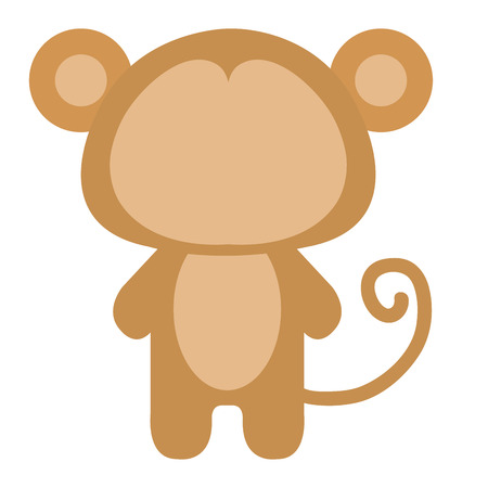 Stuffed animal monkey icon vector illsutration design graphic Ilustrace