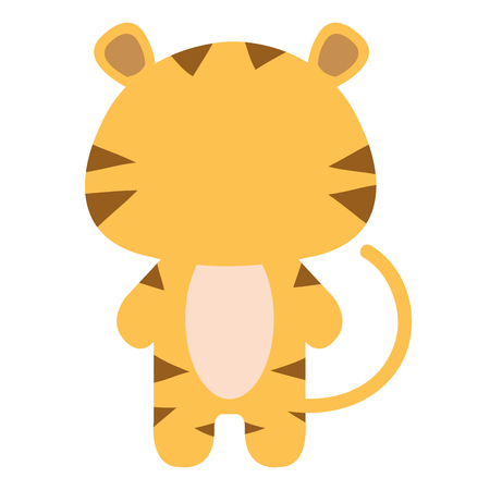 baby playing toy: Stuffed animal tiger icon vector illustration design graphic