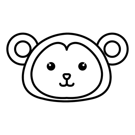 Stuffed animal monkey icon vector illsutration design image